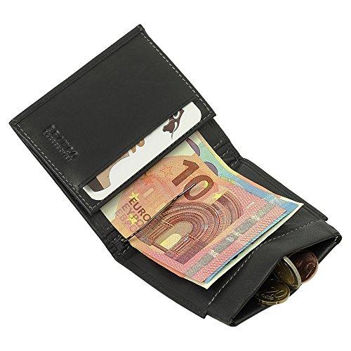 b80b70b47c035 Sportliche Leder Dollarclip Herren Geldbörse Geldclip Geldbeutel mit Geldklammer  schwarz