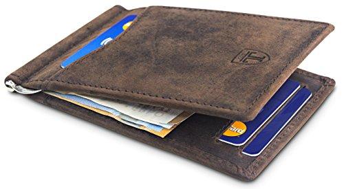 travando kreditkartenetui havanna kartenetui herren mit geldklammer leder rfid slim wallet. Black Bedroom Furniture Sets. Home Design Ideas