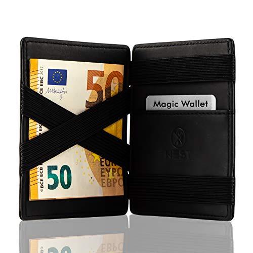 4f4892aa2c9e3 inklusive Edler Geschenkbox – Das ORIGINAL – Geldbeutel mit Münzfach – West  – Datenschutz Dank RFID – Der perfekte Begleiter für unterwegs Schwarz …